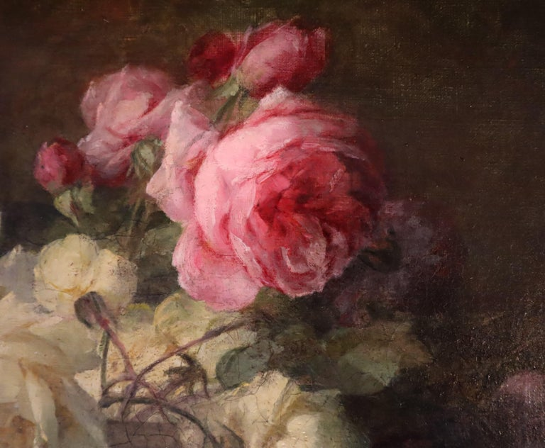 Perrachon specialized in the flora genre and other still-life compositions. He is best known today for his floral still-lifes, especially roses, which are part of major museum collections throughout Europe. Perrachon exhibited regularly in Paris and