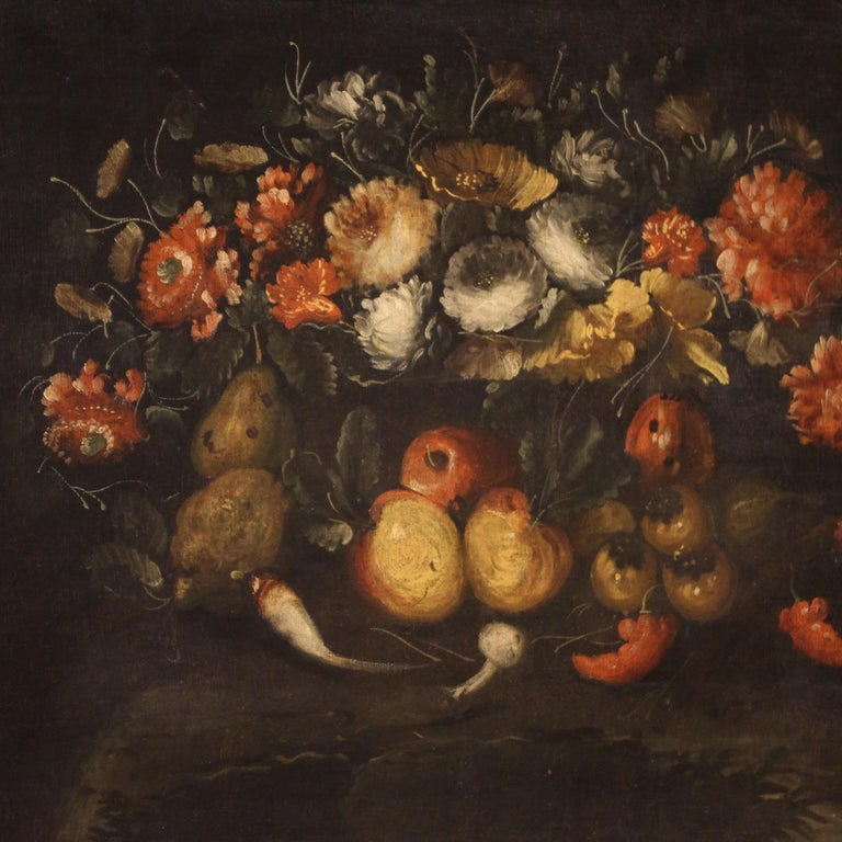 19th Century Oil on Canvas French Still Life Painting, 1880 1