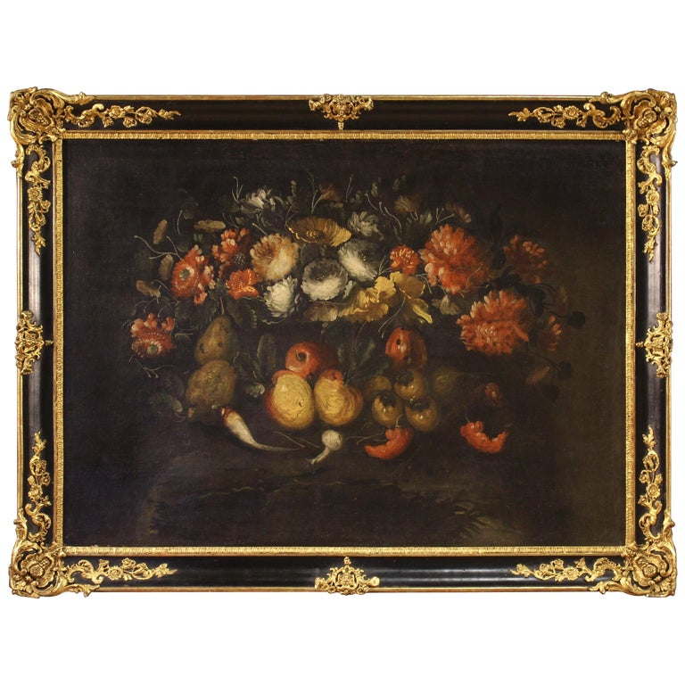 19th Century Oil on Canvas French Still Life Painting, 1880