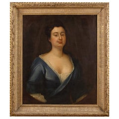 19th Century Oil on Canvas French Woman Portrait Painting, 1830