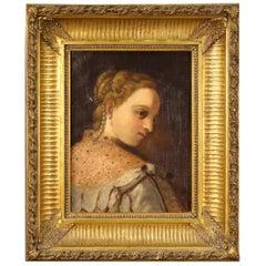 19th Century Oil on Canvas German Portrait Painting, 1870