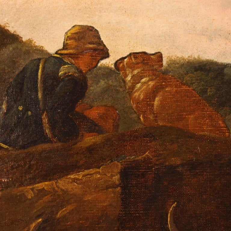 Late 19th Century 19th Century Oil on Canvas Italian Landscape Painting, 1870 For Sale