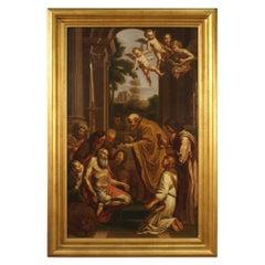 19th Century Oil on Canvas Italian Religious Painting Saint Jerome, 1830