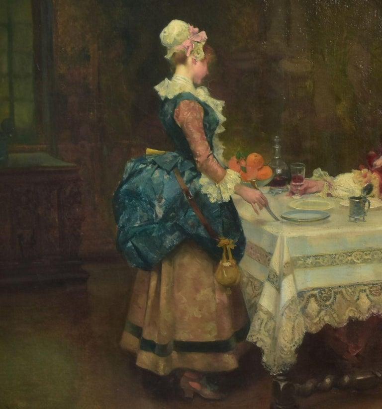 French 19th Century Oil on Canvas José Mirailles Darmanin Spanish School For Sale