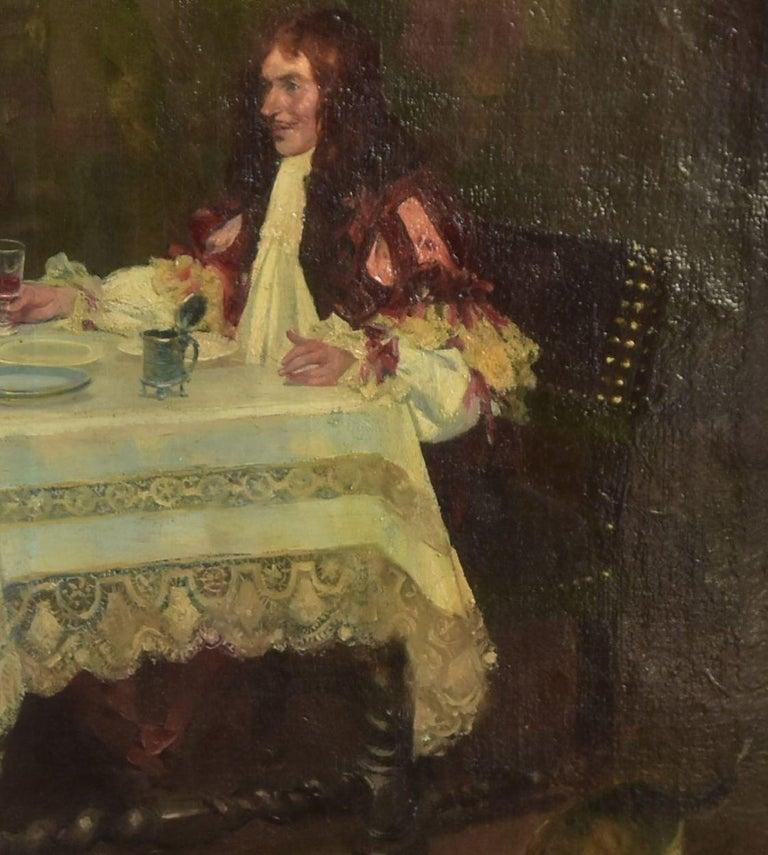 Painted 19th Century Oil on Canvas José Mirailles Darmanin Spanish School For Sale
