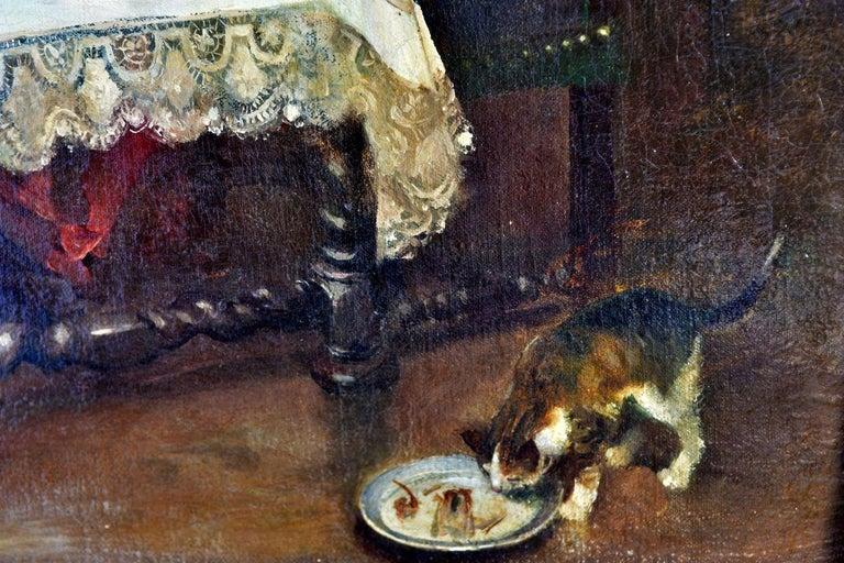 19th Century Oil on Canvas José Mirailles Darmanin Spanish School In Good Condition For Sale In Marseille, FR