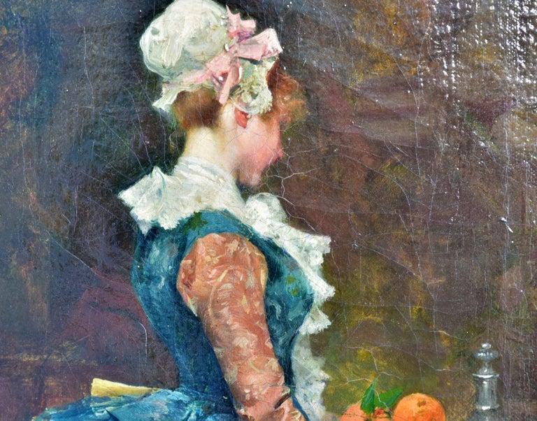 19th Century Oil on Canvas José Mirailles Darmanin Spanish School For Sale 2
