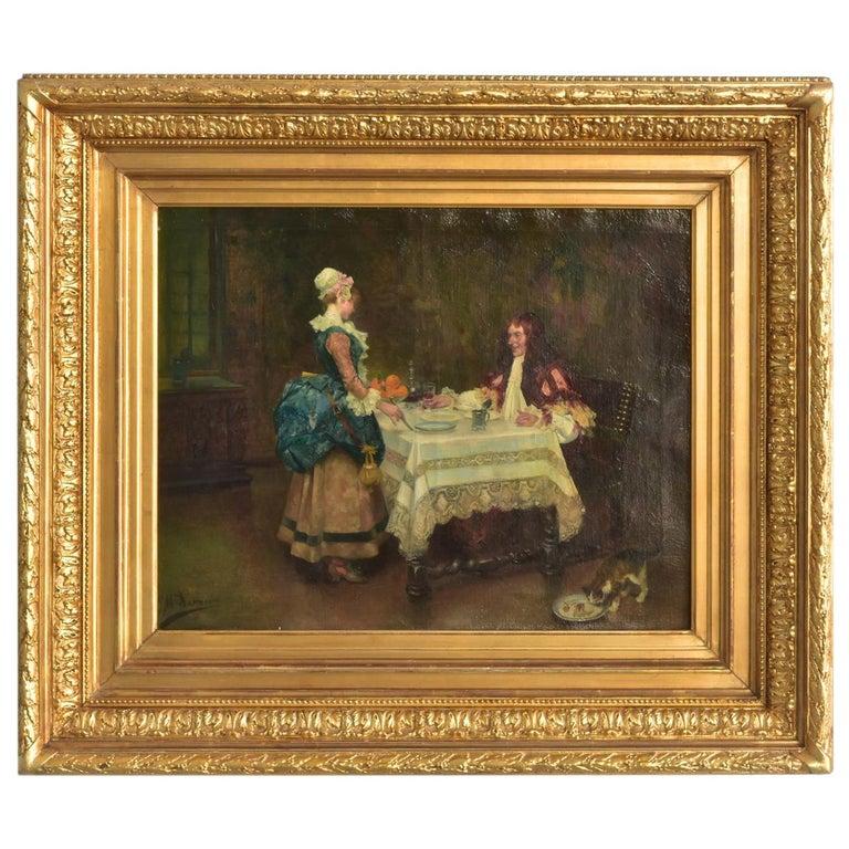 19th Century Oil on Canvas José Mirailles Darmanin Spanish School For Sale