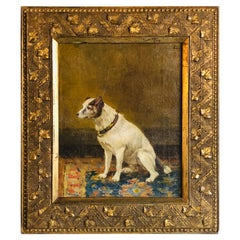 19th Century Oil on Canvas of a Dog, Jay Hamilton with Provenance