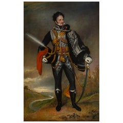 19th Century Oil on Canvas  of a Hussar