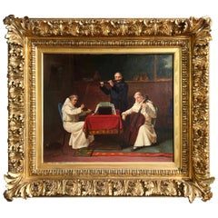 """19th Century Oil on Canvas Painting """"A Heavenly Recital"""" Signed J. Bernstein"""
