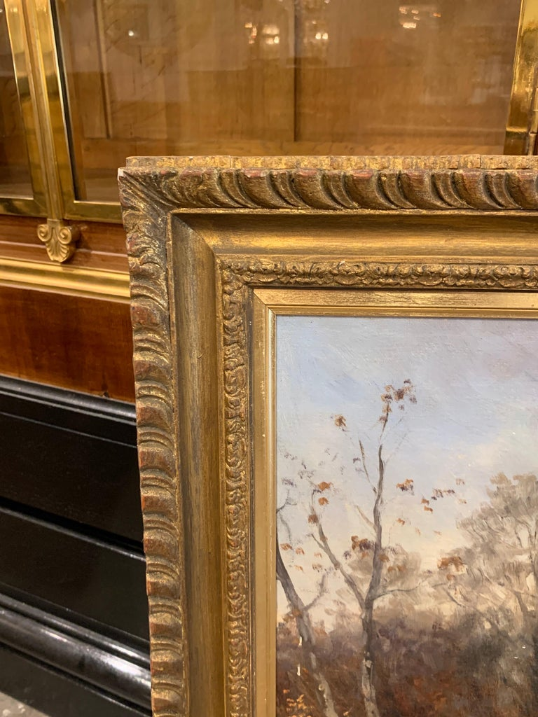 19th Century Oil on Canvas Painting by Artist Adolf Baumgartner Stoiloff For Sale 2