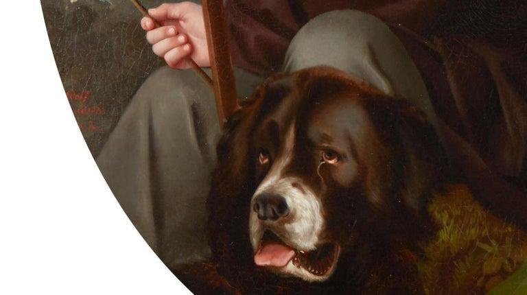 19th Century Oil on Canvas Portrait For Sale 6