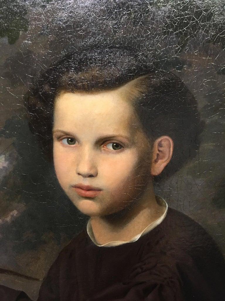 19th Century Oil on Canvas Portrait For Sale 1
