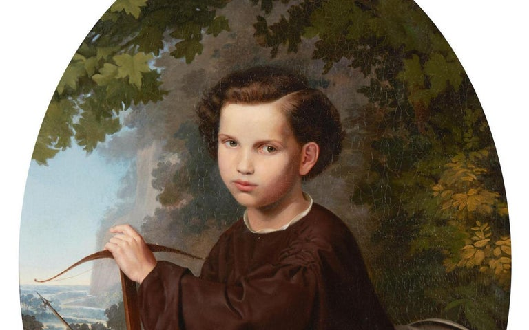 19th Century Oil on Canvas Portrait In Good Condition For Sale In Cypress, CA