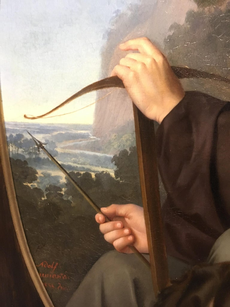 19th Century Oil on Canvas Portrait For Sale 8
