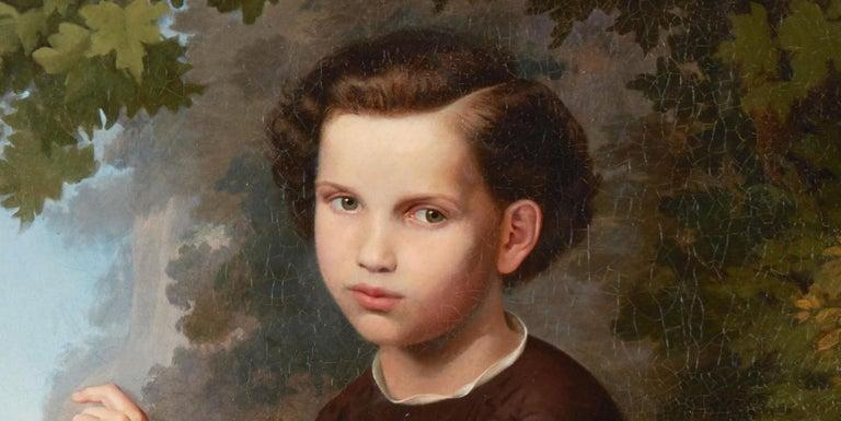 19th Century Oil on Canvas Portrait For Sale 2
