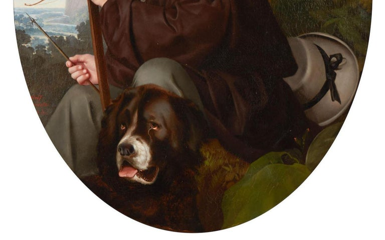 19th Century Oil on Canvas Portrait For Sale 5