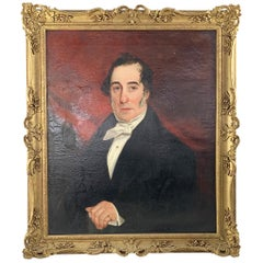 19th Century Oil On Canvas Portrait Of An English Gentleman