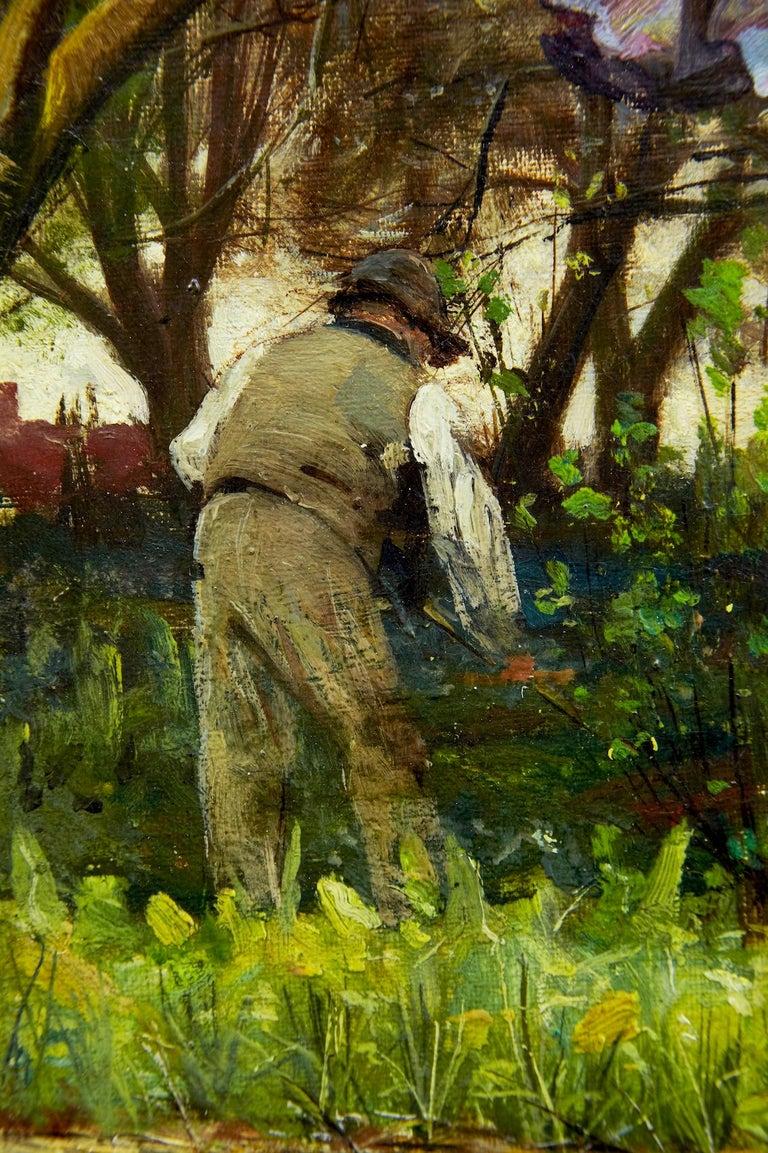 Victorian 19th Century Oil on Canvas Rural Scene by John Robertson Reid For Sale
