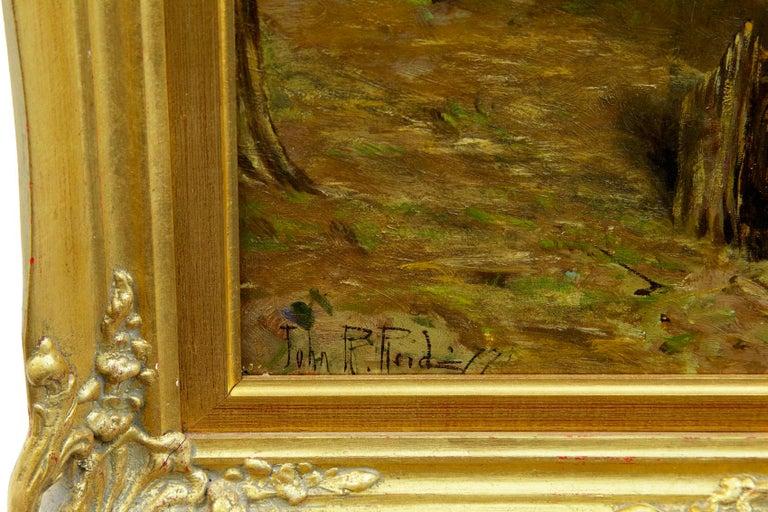English 19th Century Oil on Canvas Rural Scene by John Robertson Reid For Sale