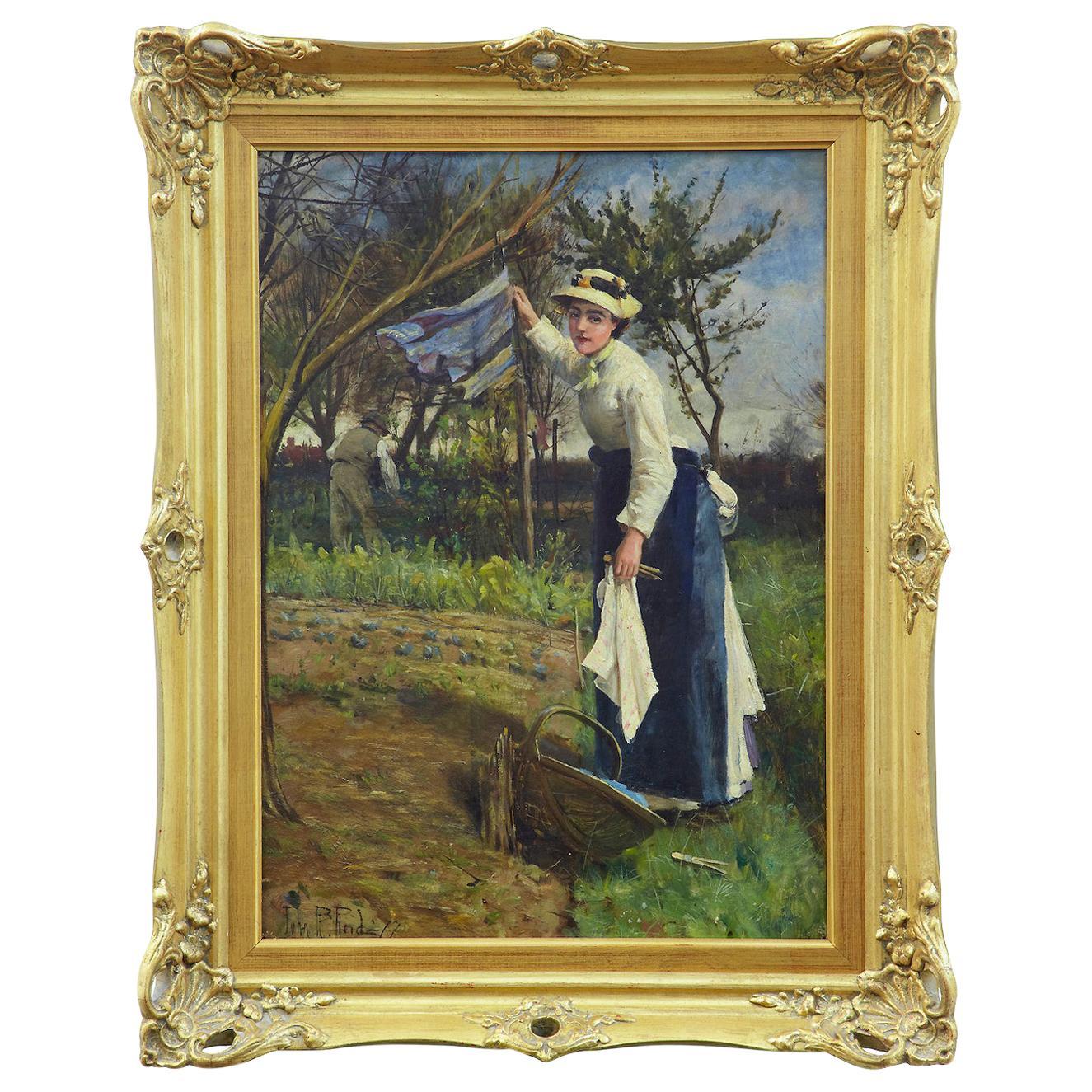 19th Century Oil on Canvas Rural Scene by John Robertson Reid