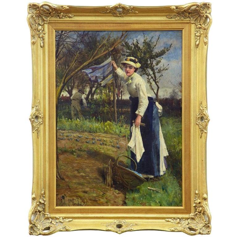 19th Century Oil on Canvas Rural Scene by John Robertson Reid For Sale