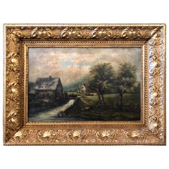 19th Century Oil on Canvas Signed G. Campbell Stoddard Dated 1896