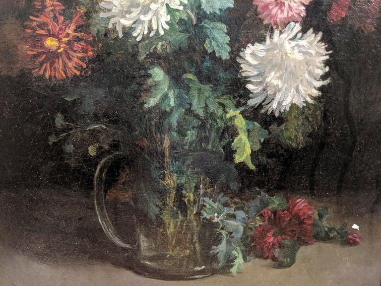 Oiled 19th Century Oil on Canvas