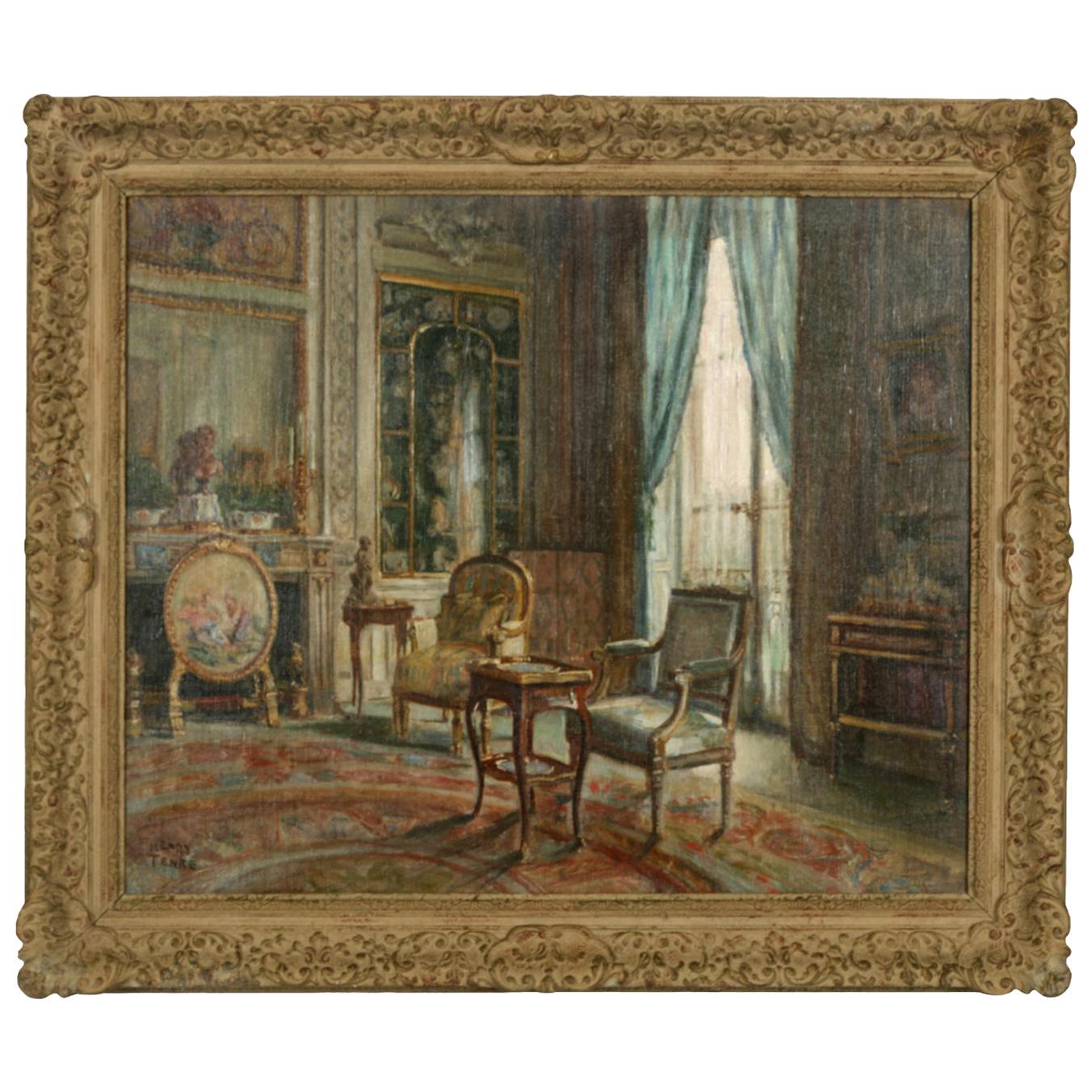 19th Century Oil Painting by Charles Henry Tenre