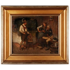 19th Century Oil Painting by M. Wachsmuth, 1859-1912