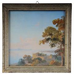 19th Century Oil Painting Landscape Potsdam, Germany, Gustav Wagener
