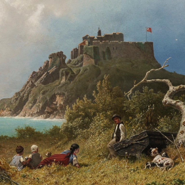 A view over the Bristol Channel from near Dunster Castle