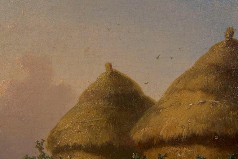 19th Century Oil Painting of Chickens in Yard by Cornelis Van Leemputten For Sale 6