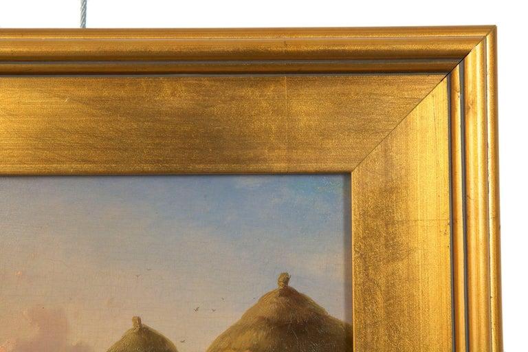 19th Century Oil Painting of Chickens in Yard by Cornelis Van Leemputten For Sale 7
