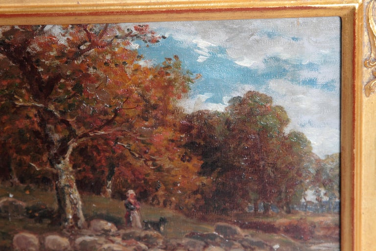 American 19th Century Oil Painting of Sheep Signed James Desvarreux For Sale