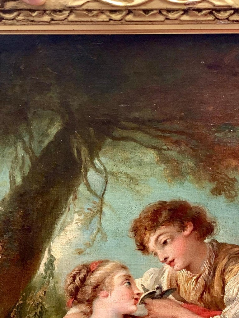 19th Century Oil Painting on Canvas after Francois Boucher For Sale 3