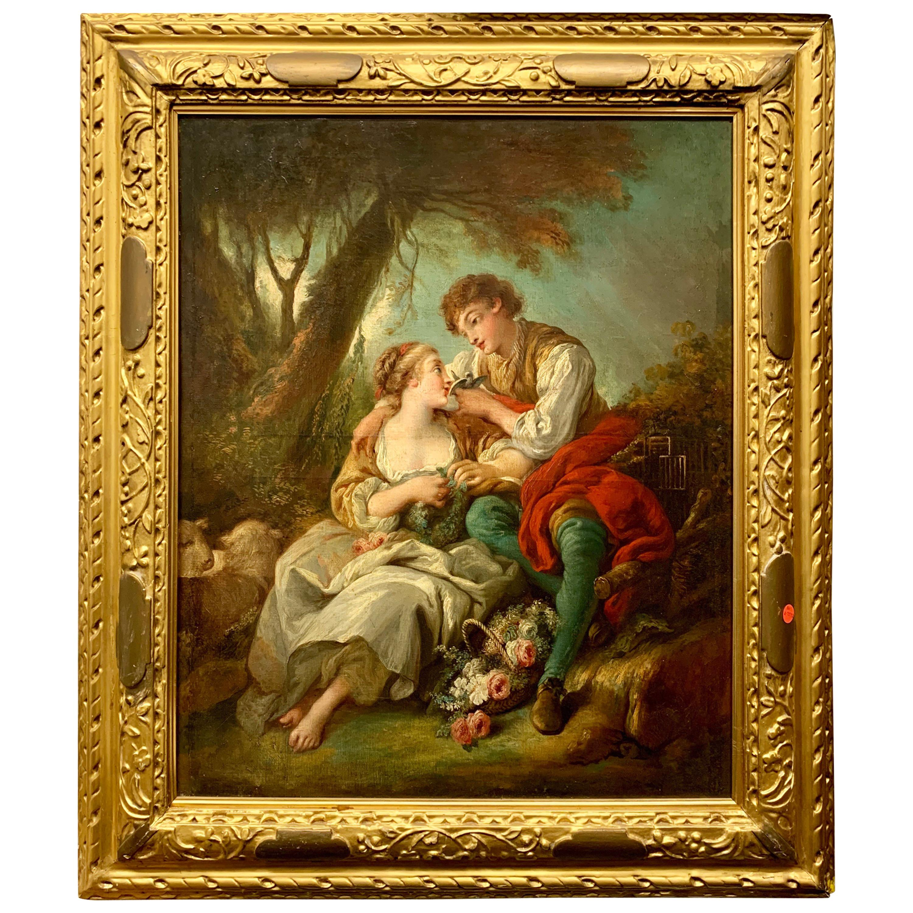 19th Century Oil Painting on Canvas after Francois Boucher