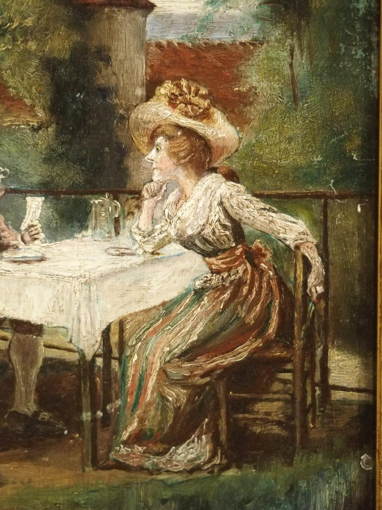 19th Century Oil Painting on Wood from France For Sale 6