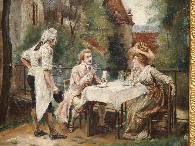 19th Century Oil Painting on Wood from France For Sale 9