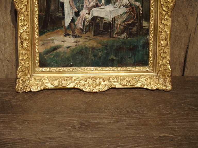 19th Century Oil Painting on Wood from France For Sale 10