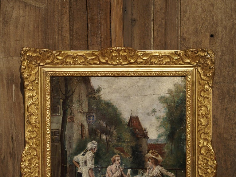 19th Century Oil Painting on Wood from France For Sale 11
