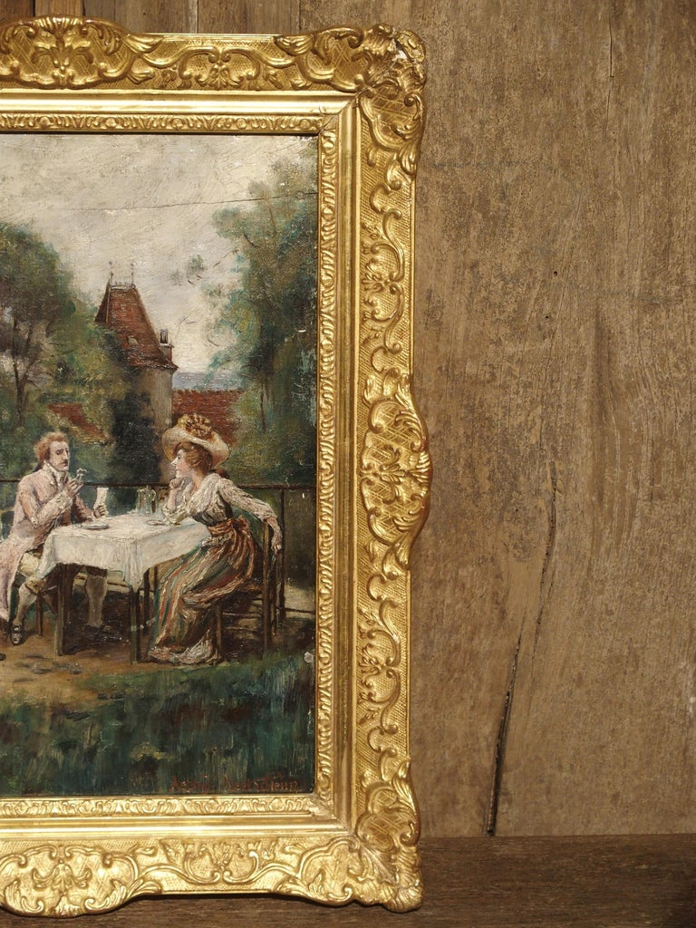 19th Century Oil Painting on Wood from France For Sale 12