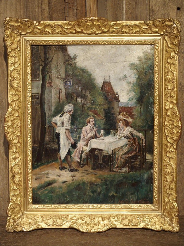 19th Century Oil Painting on Wood from France For Sale 14