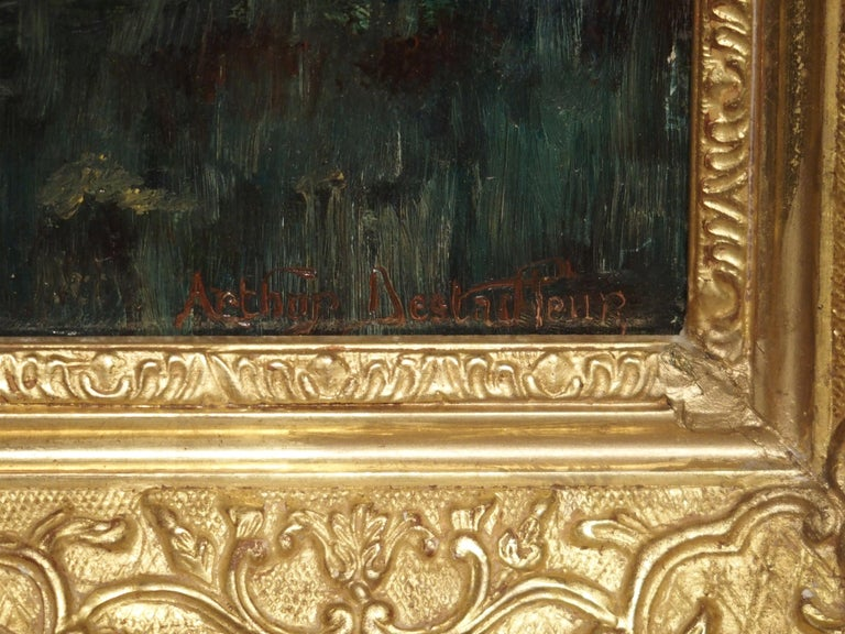French 19th Century Oil Painting on Wood from France For Sale