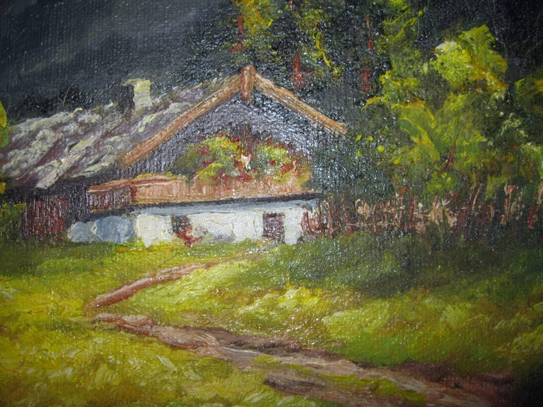 Other 19th century Oil Painting Seealpsee, Switzerland For Sale