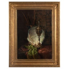 19th Century Oil Painting Still Life by François Joseph Huygens