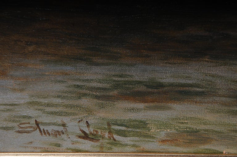 19th Century Oil Paintings Canterbury Landscape W. Stuart Lloyd View from Castle For Sale 7