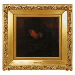 19th Century Oil Portrait Attributed to Mariano Fortuny '1838-1874'