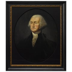 19th Century Oil Portrait of George Washington, after Rembrandt Peale